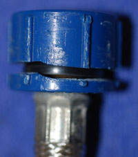 Six Ribbed Blue Acetal Coupling Nut
